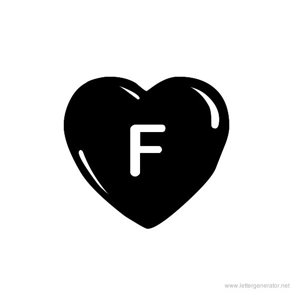 JLR Simple Hearts Font Alphabet F