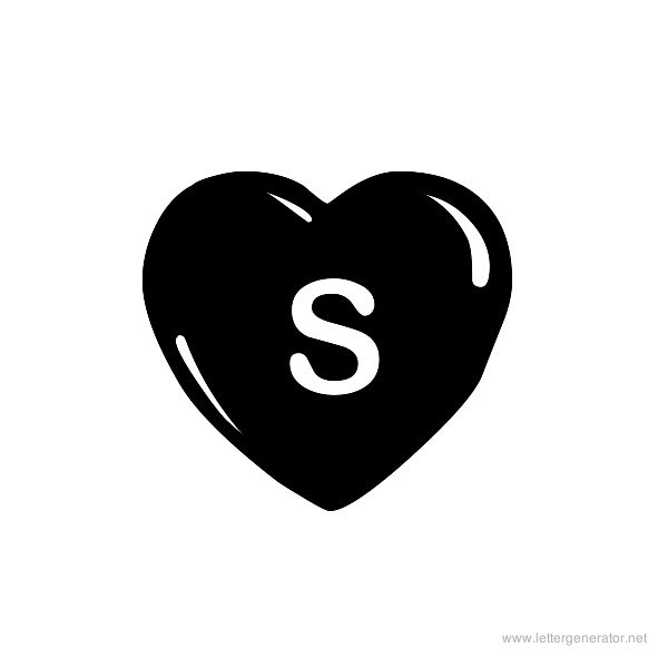 JLR Simple Hearts Font Alphabet S