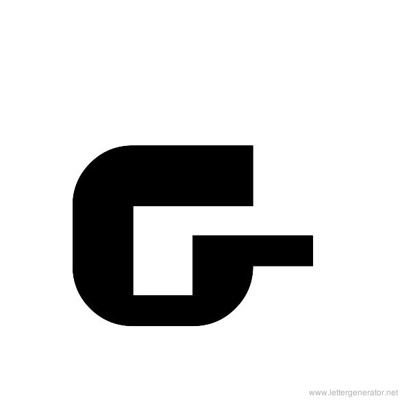 ThickThin Font Alphabet G
