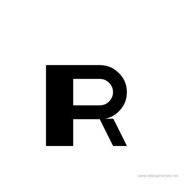 ThickThin Font Alphabet R