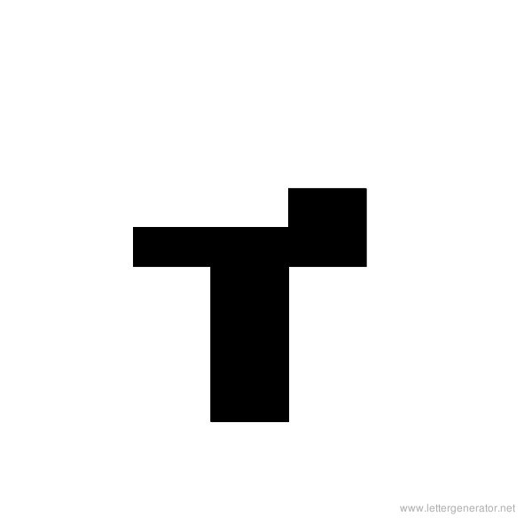 ThickThin Font Alphabet T