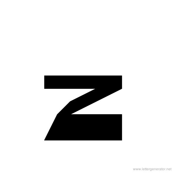 ThickThin Font Alphabet Z